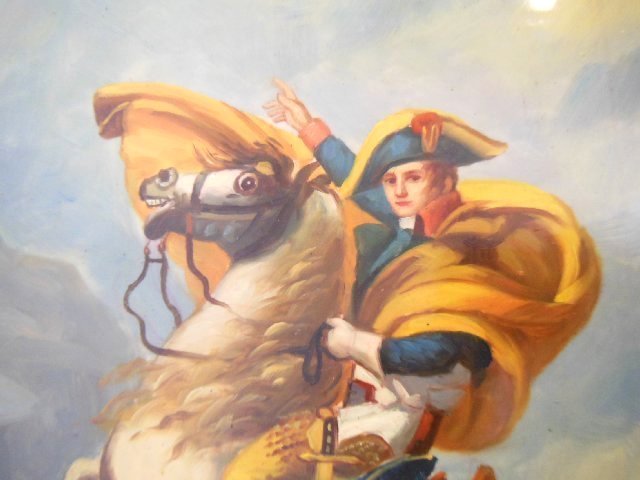 20th c. Painting on Porcelain 'Napoleon on Horse' - 4
