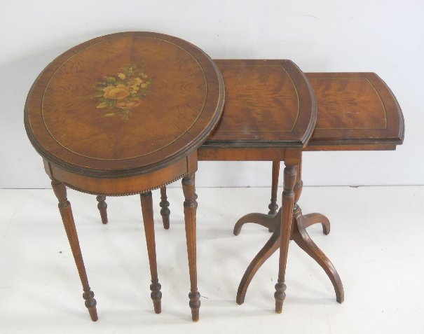 Adams style set of 3 nest of tables