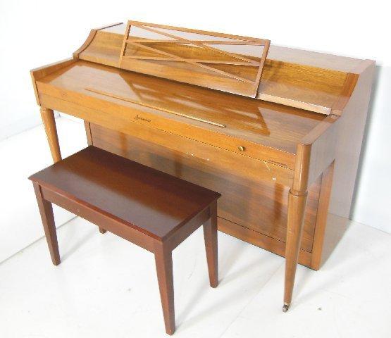 Baldwin acrosonic upright piano with bench