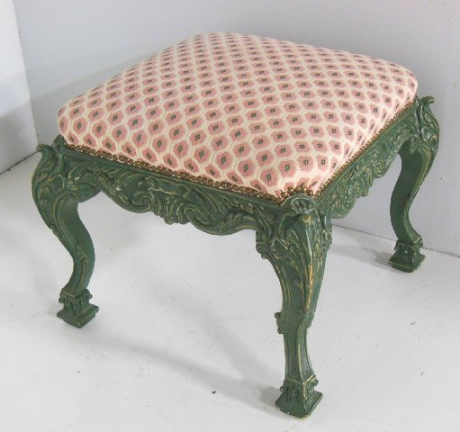 Carved foot stool