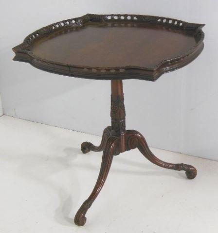 Mahogany piecrust table