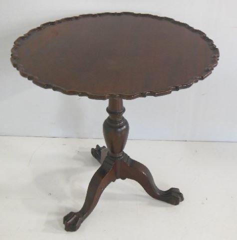 Tilt top mahogany ball & claw George III table
