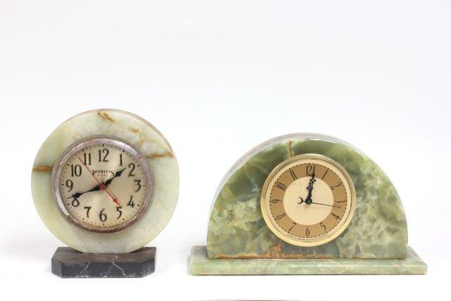 2 Art deco marble clocks