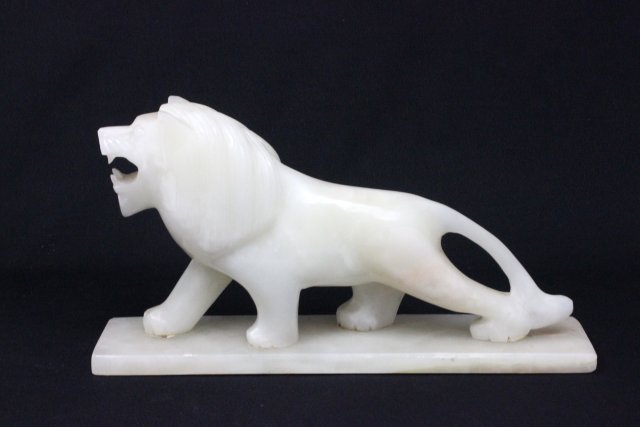 """Carved white stone """"Lion"""""""