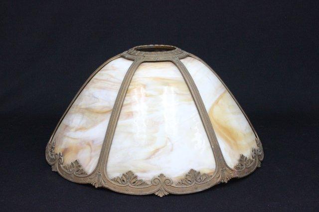 Slag glass shade