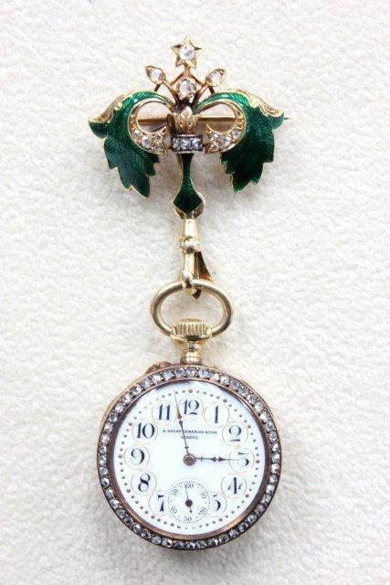 19thc. A. Golay-Leresche Fills Swiss pocket watch