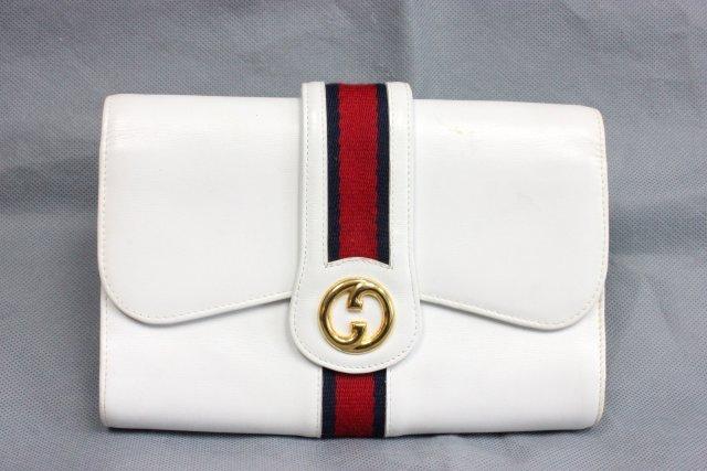 Gucci leather clutch purse & Coach checkbook cover - 2