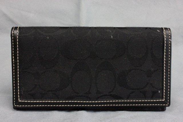 Gucci leather clutch purse & Coach checkbook cover - 5