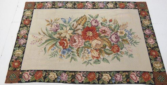 Handmade needlepoint rug/tapestry