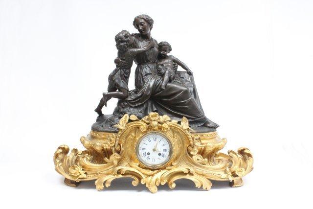 19th c. French bronze monumental clock