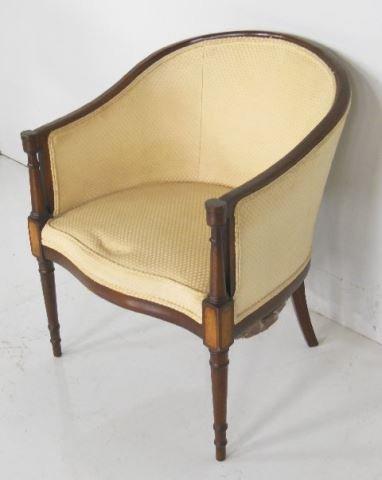 Mahogany tub chair