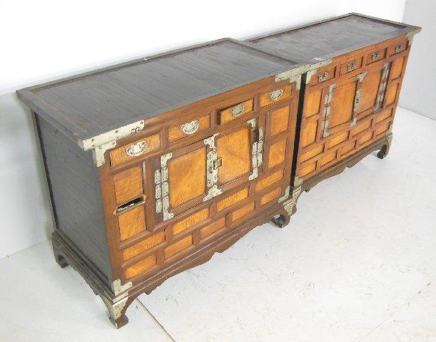 Pair Chinese chests