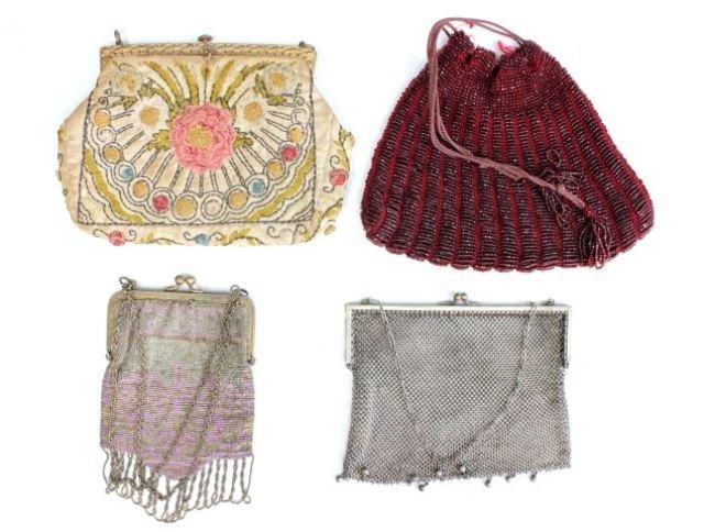 Lot of 4 ladies vintage handbags