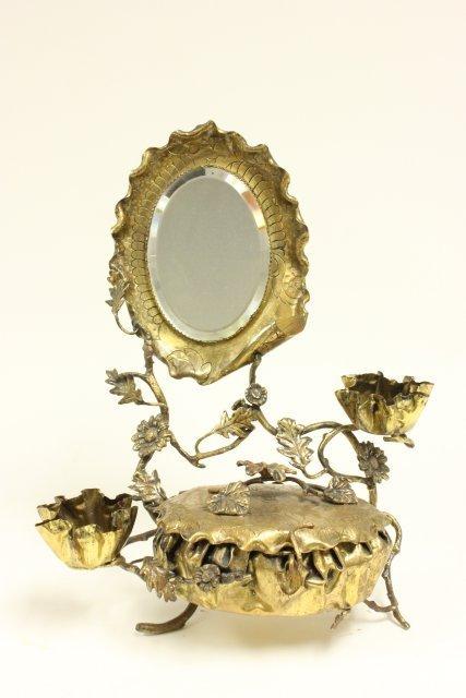 Victorian jewelry box with mirror