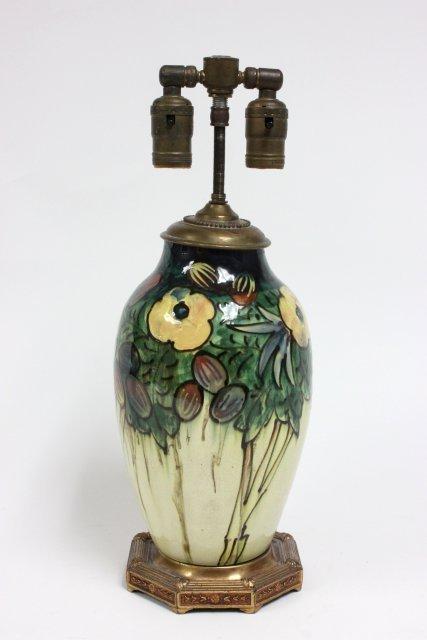 English Moorcroft style lamp base