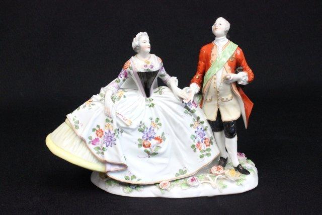 """Dresden porcelain grouping """"Man & Woman"""""""