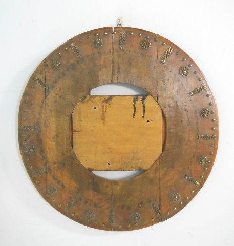 Probably 18th c. carved wood round frame