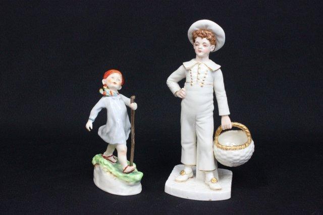 2 porcelain Royal Worcester figures