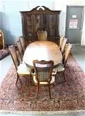 Mid century 10 piece walnut dining room set