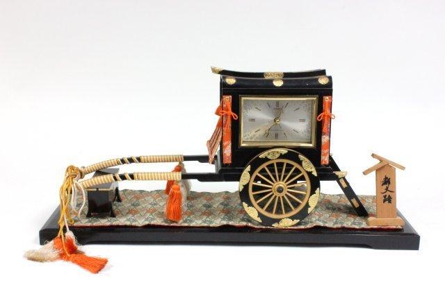 Rickshaw battery operated clock