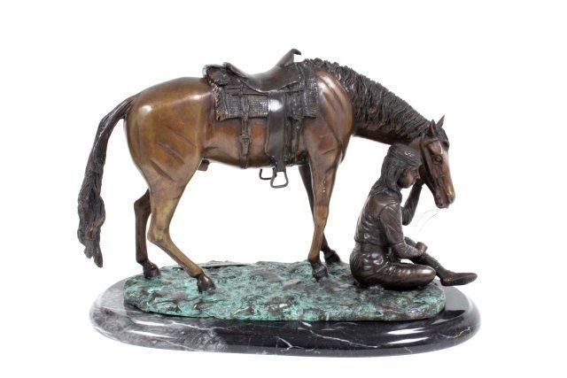 Leonardo Rossi bronze sculpture
