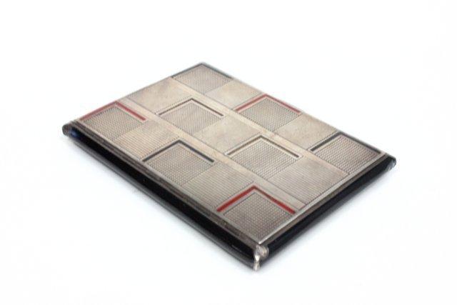 Unusual Mappin & Wabb Art Deco sterling silver box