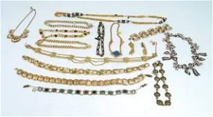 20 Gold toned vintage & designer necklaces