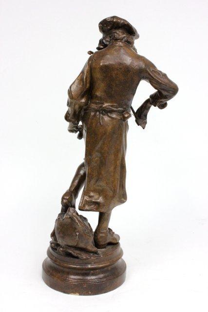 "Bronze statue of ""Man Playing Violin""-Signed Lulli - 5"