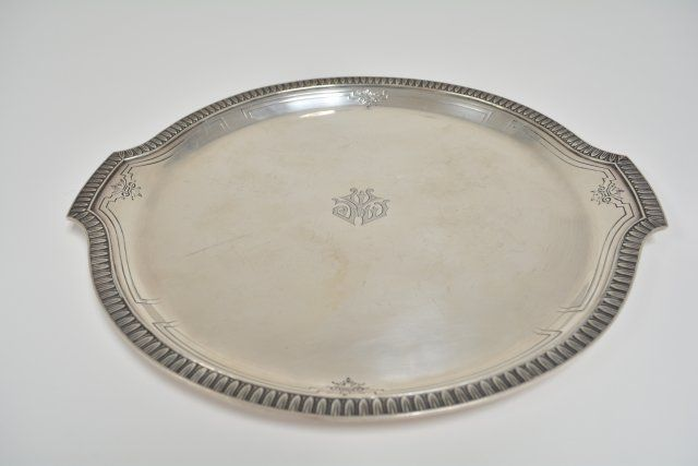 Sterling silver round platter