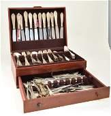 George Jensen sterling silverware set 144 pcs c 1920s