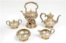 5 pcs sterling silver tea set