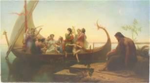 Pre - Raphaelite Oil on Canvas