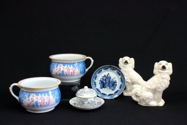 6 pieces of ceramic and porcelain