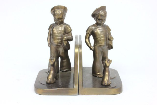 Pair Frankart bookends