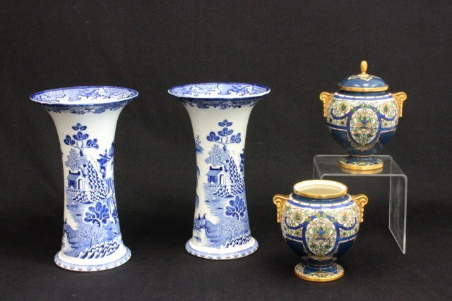 Pair Royal Worcester and pair Mason's China