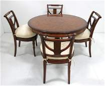 Regency style round breakfast table w chairs