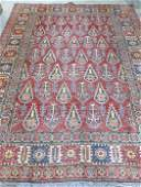 Red Persian Caucasian style rug