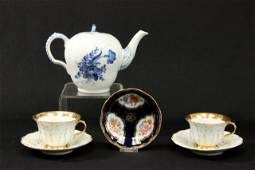 Lot of Copenhagen  Meissen porcelain