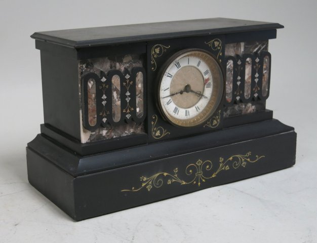Victorian marble & stone mantle clock case