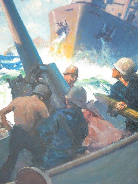 """""""WWII Battle Scene"""", W.J. Aylward - 3"""
