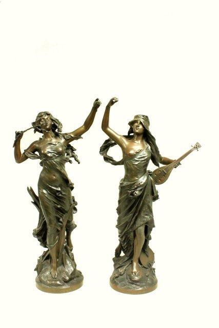 Pair of bronze figures by E. Drouot