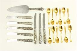 Black Starr & Frost spoons, knives & serving knife