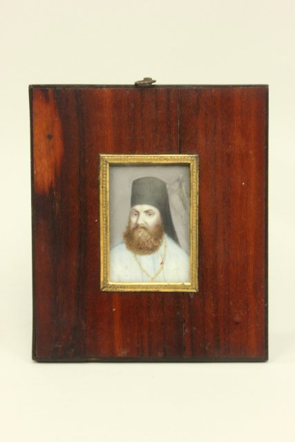 18th c. Russian miniature hand painted portrait