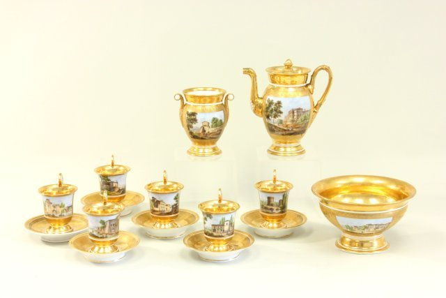 Possibly Russian 19th c. Imperial Porcelain teaset