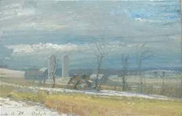 Harry Orlyk, Rural Winter Farm Landscape