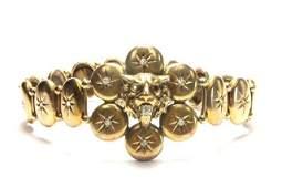 19th Century 10k Gold and Diamond Bracelet