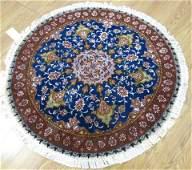 Round Persian fine Tabriz Carpet