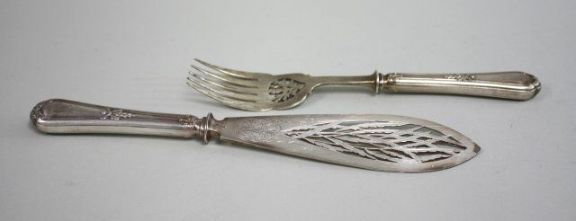 Pair of French Christofle Serving Pieces