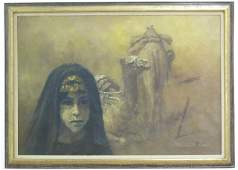 William Weintraub, Bedouin Woman with Camels