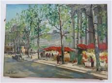 """Charles Blondin, """"Paris Flower Market, Madeline"""""""